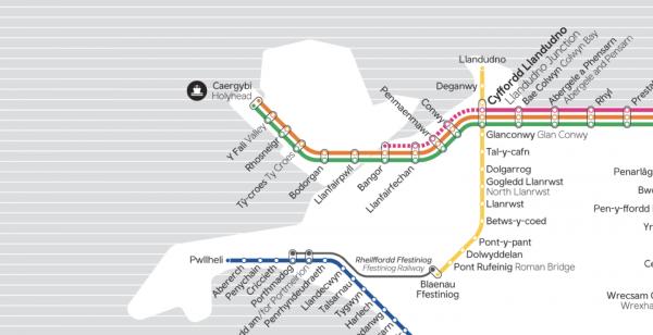 Map o'r Llwybr